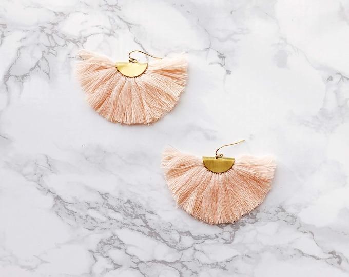 Spectrum Fan Earrings - Peach