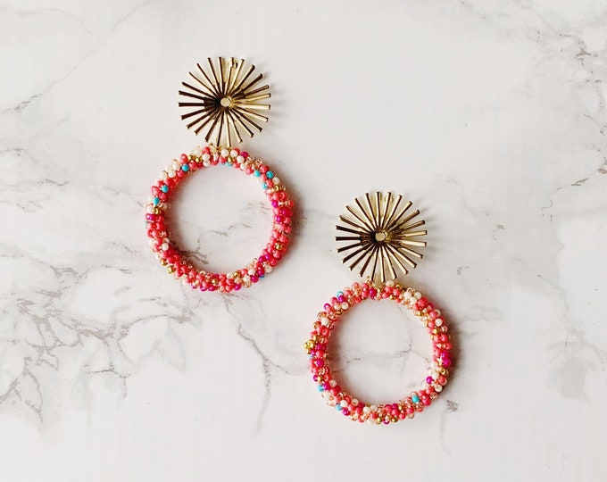 Exuma Circle Earrings - Pink