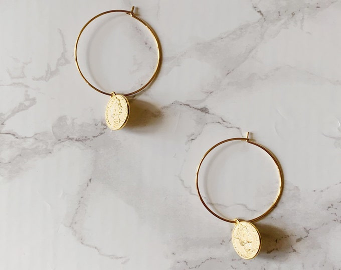 Argent Hoop Earrings