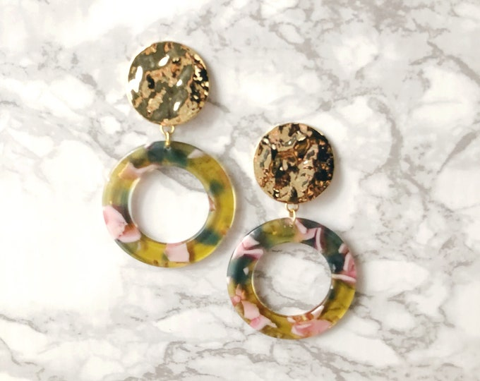 Lost Statement Earrings - Yellow