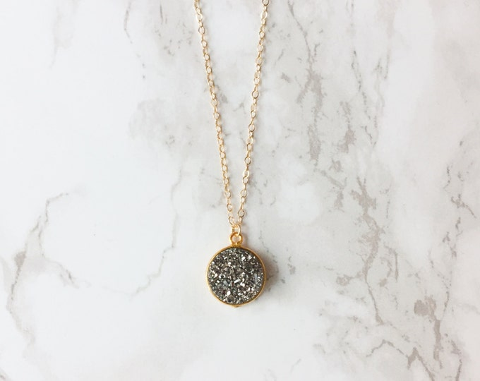 Round Druzy Necklace