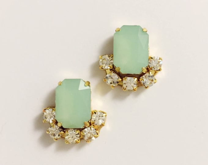 Mint Geen Stud Earrings