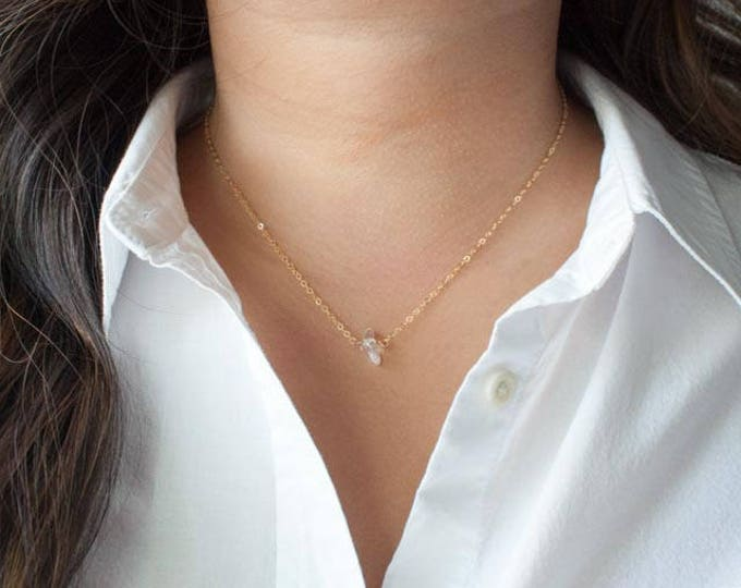 Dainty Crystal Quartz Necklace