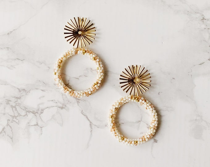 Exuma Circle Earrings - Ivory