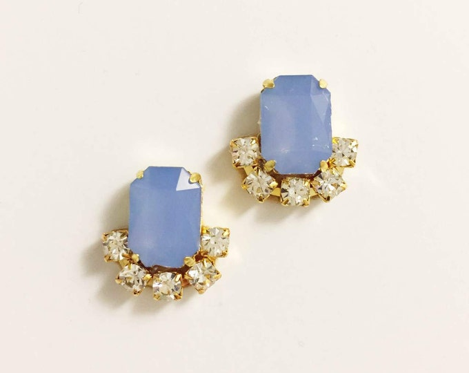Pastel Blue Stud Earrings