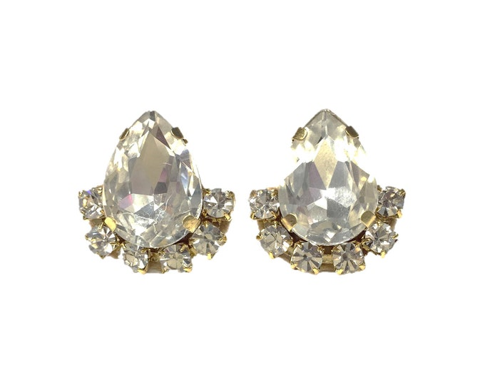 Crystal Teardrop Statement Earrings
