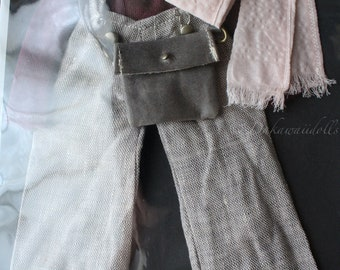 FREE SHIPPING / Blythe Doll Outfit /  1/6 doll size /  suspender wide pants  set/ cotton / linen / SP-01