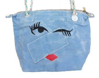 Ali Lamu Small Weekend Bag Blue Wink