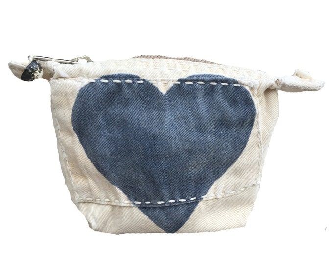Ali Lamu Small Clutch HEART Navy