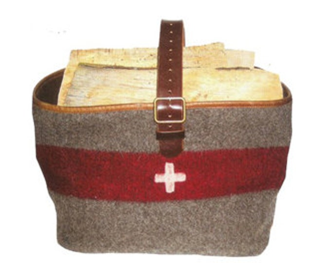 WD20 Swiss Army Blanket Basket for wood or magazines by Karlen Swiss