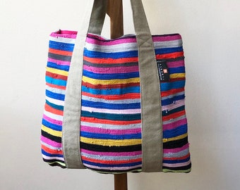 Up-cycled Colorful African Tote Bag