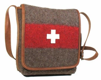 WD43 Swiss Army Blanket Cross Body Bag by Karlen Swiss