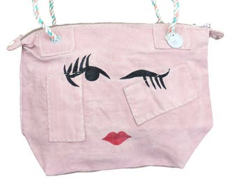 Ali Lamu Small Weekend Bag Pink Wink
