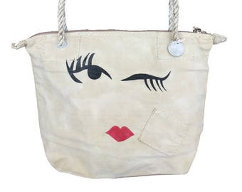 Ali Lamu Small Weekend Bag Natural Wink