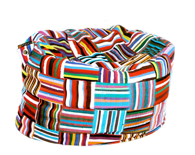 Featured listing image: Handmade Colorful African Beanbag Ashanti 'Bori Bori'