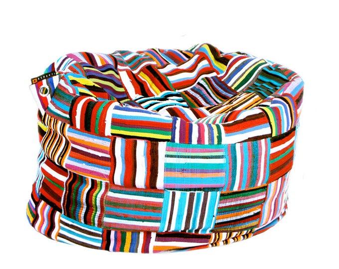 Handmade Colorful African Beanbag Ashanti 'Bori Bori'