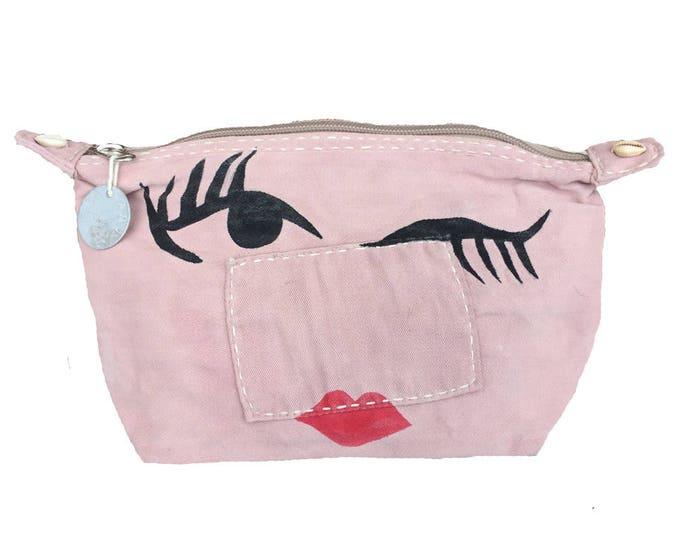 Ali Lamu Large Clutch Bag Pink Wink