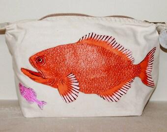 Ali Lamu Large Clutch Bag Natural Fish