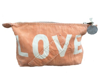 Ali Lamu Large Clutch Tangerine Love Natural