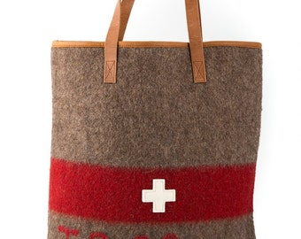 WD19 Swiss Army Blanket Shopper Bag by Karlen Swiss