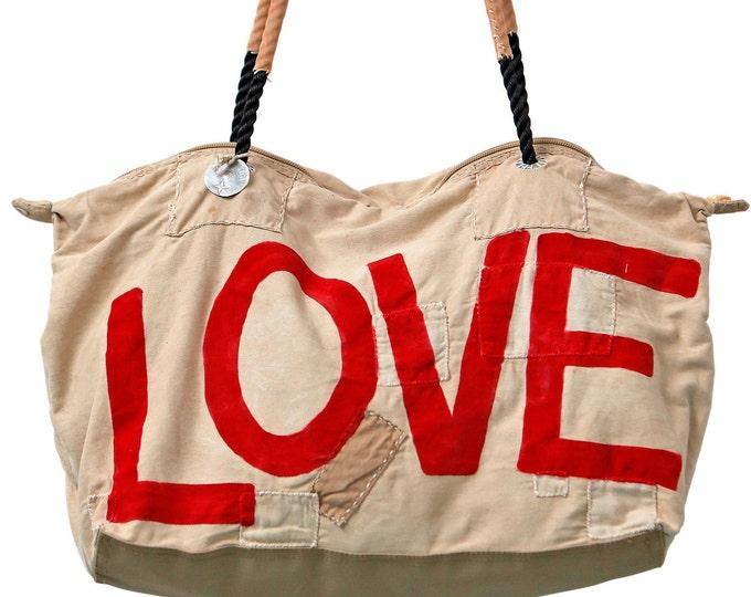 Ali Lamu Large Weekend Bag Love Red