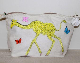 Ali Lamu Large Clutch Bag Natural Giraffe
