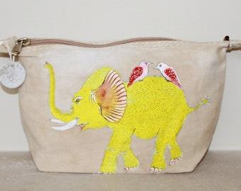 Ali Lamu Large Clutch Bag Natural Elephant Yellow