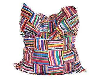 Handmade Colorful African Beanbag Ashanti 'Mahitzi'