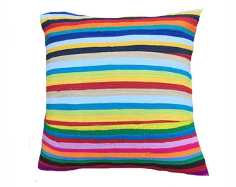 Handmade Colorful African Cushion Cover by Ashanti