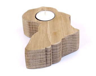 Africa Candle Holder Oak