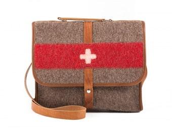 WD47 Swiss Army Recycling Blanket Laptop Bag by Karlen Swiss