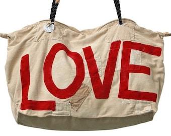 Ali Lamu Medium Weekend Bag Love Red