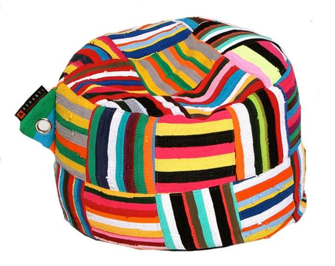 Handmade Colorful African Beanbag Ashanti 'Baby Bori Bori'