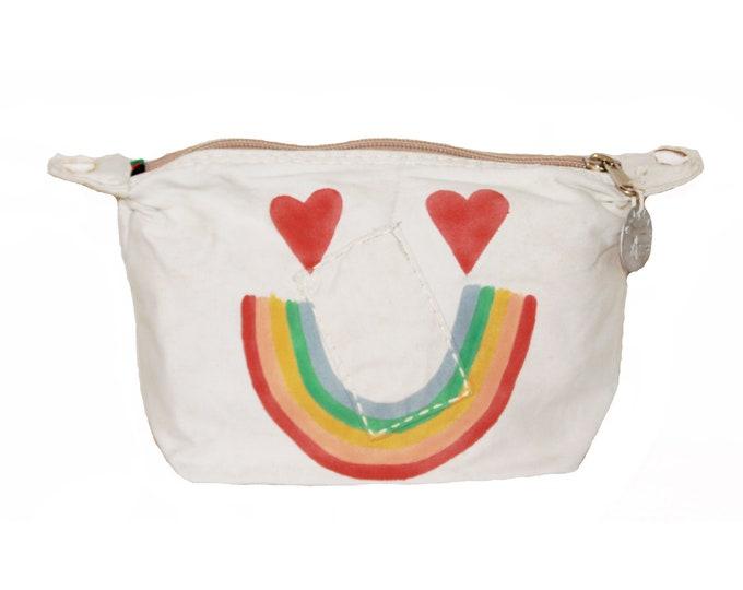 Ali Lamu Large Clutch Bag Natural Rainbow Face