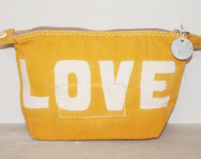 Ali Lamu Large Clutch Bag Yellow LOVE Natural