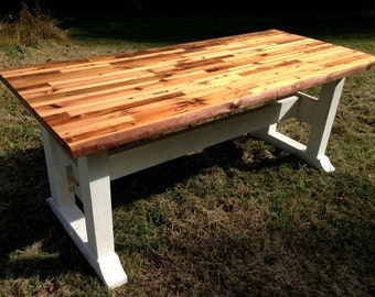 Butcher Block Table Etsy