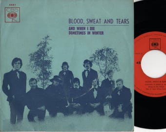 """BLOOD SWEAT & TEARS And When I Die 1970 Portugal Issue Rare 7"""" 45 Vinyl Single Record Jazz Rock Pop Psych 60s 4491"""