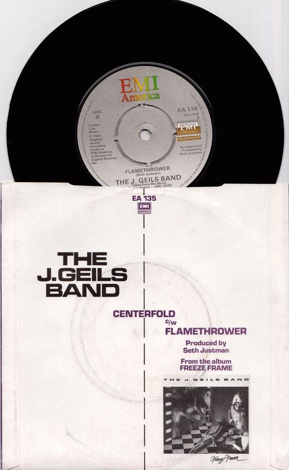 The J. GEILS BAND Centerfold 1981 Uk Issue Original 7 | Etsy