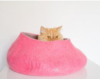 Cat bed, pink fuchsia, pets cat bed, pink hot, dog house