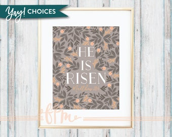 He is Risen - Matthew 28:6 Print