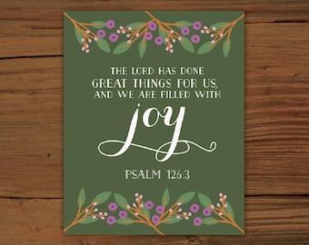 Psalm 126:3 Print