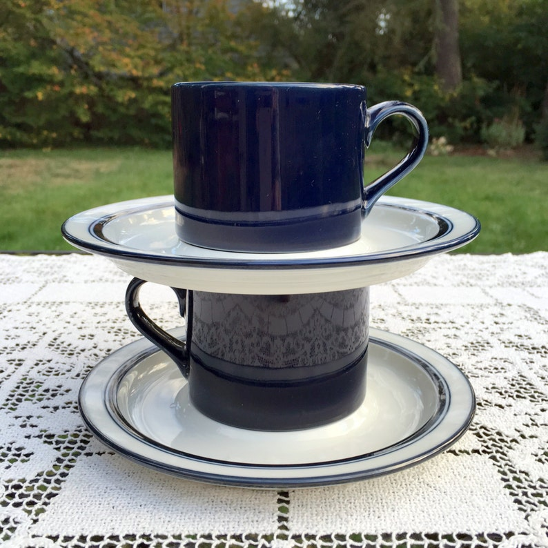 Dansk Bistro/Cobalt Blue Cups/Flat Cups with White image 0
