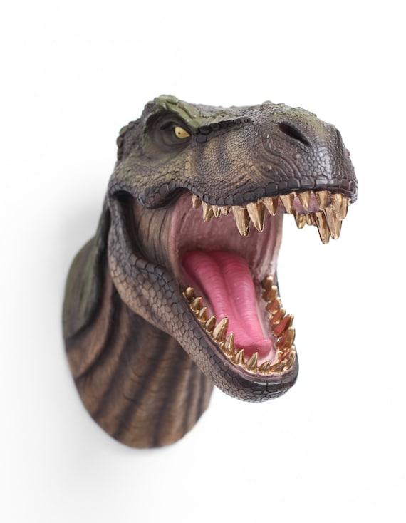 T-Rex Wall Trophy Papercraft Pattern | T-Rex Plaque | Dinosaur ... | 734x570