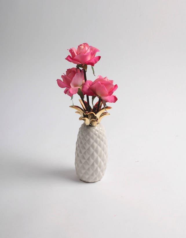 Sale Pineapple Vase Natural Gold Ceramic Pineapple Decor Etsy