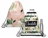 Personalized Backpack, Custom DrawString Backpack, Monogrammed Tote Bag, Custom School Bag, Custom Gym Bag, Lightweight Bag, Draw String Bag