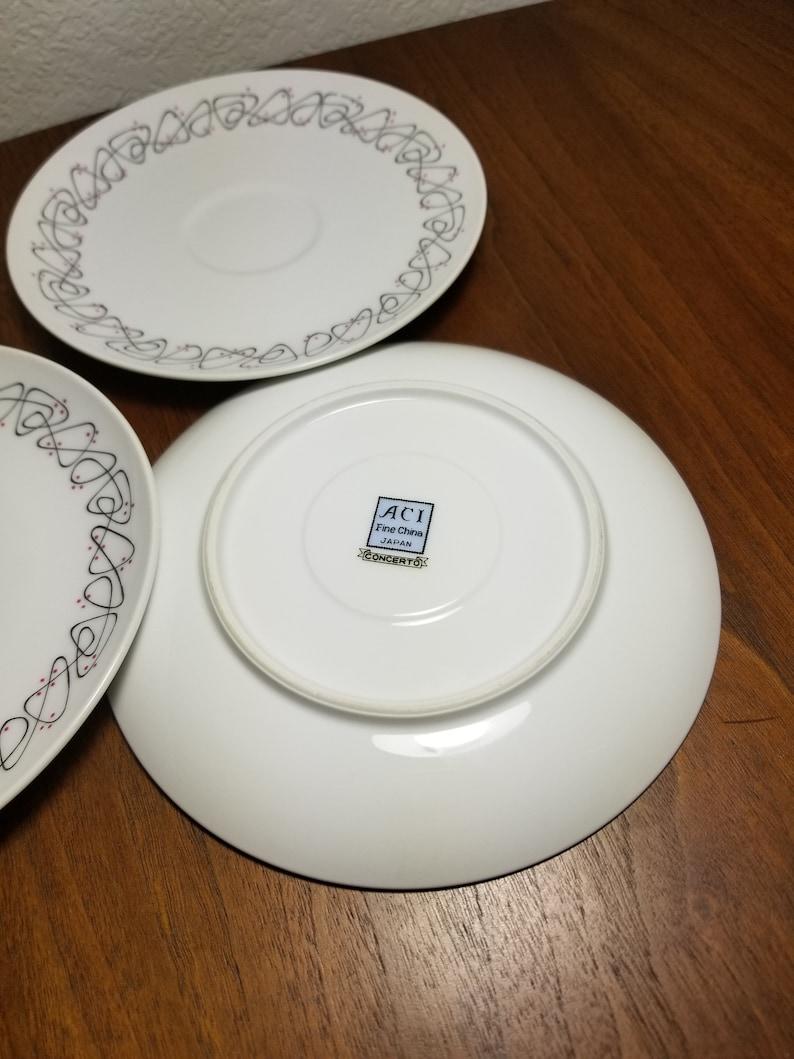 Set of 3 Atomic Print ACI Japan Concerto Saucer Plates