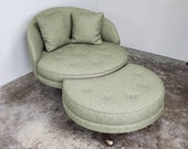 Adrian Pearsall Havana Chair with Ottoman (Please Read Shipping Info in Description)