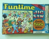 Retro vintage Jigsaw Puzzle Children Funtime Jigsaw Made in England Toytown Dance Sailor Beefeater Clown Cowboy Dog Cat Teddy Bear Toy Story