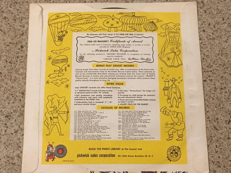 Record 45 RPM The Ballad Of Davy Crockett Gabe Drake Walt Disney Cricket  Records Cowboy Western Made In USA Vinyl Music Recorded Music Audio