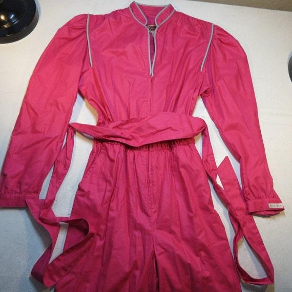 Vintage 1980'S Jean St. Germain Hot Pink Jumpsuit